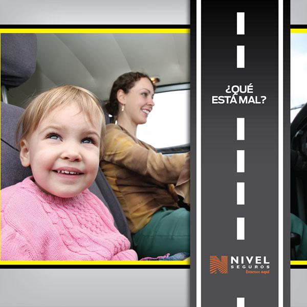 No usar cinturón de seguridad al conducir